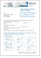 Antragsformular-Encasing